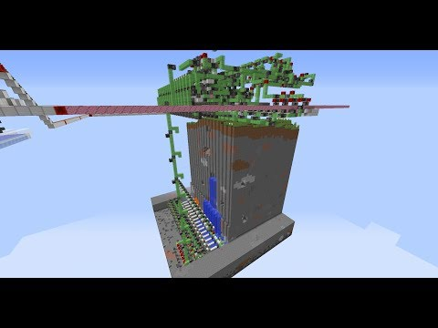 Fast automatic quarry for the end and the nether (1.12+)