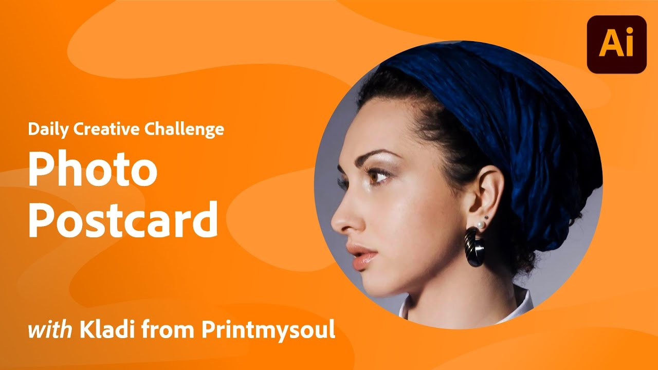 Illustrator Daily Creative Challenge - Photo Postcard