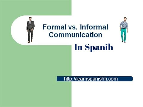 Formal and Informal Dialogue in Spanish - LEARN SPANISH - Spanish Lesson -  Basic Conversation