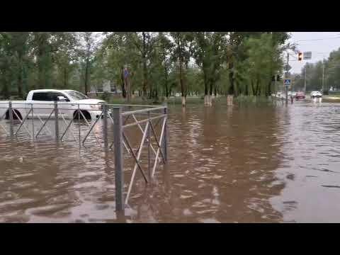 Улицы Краснокаменска затопило после сильного дождя