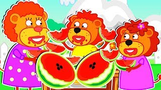 Download Lion Family 🥭 Super Fruits Cartoon for Kids Mp3 and Videos