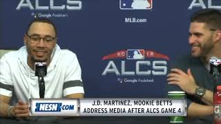 Mookie Betts, J.D. Martinez Game 4 ALCS Postgame Press Conference