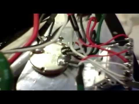 Ibanez RG350 wiring system on