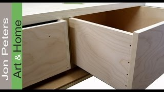 In this video, I show you how to make cabinet drawers using screws for the queen sized storage I
