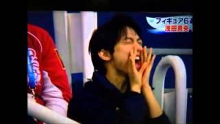 羽生結弦「真央ちゃん頑張れ~!」 浅田真央ちゃんのフリーの演技直前 Y...