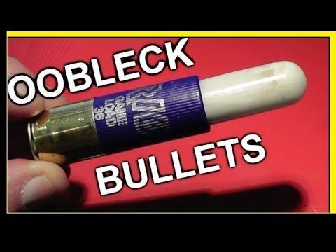 Non-Newtonian Fluid Shotgun Bullets - Must See!