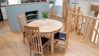 Baltic 110cm Round Oak Table Winchester Chair Set From Top Furniture