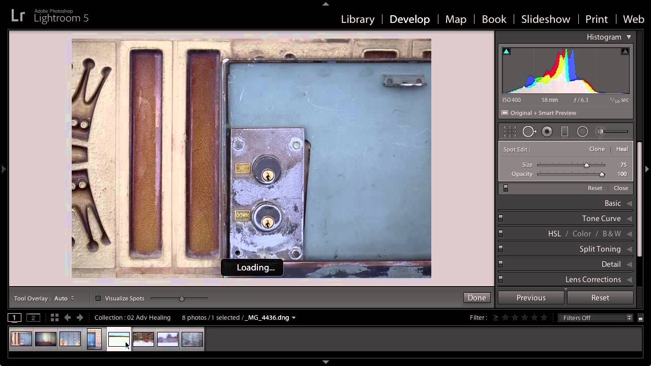 how to use healing brush lightroom cc
