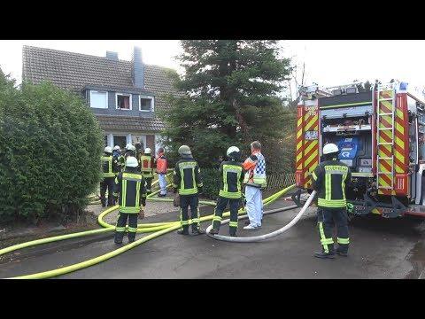 Wohnungsbrand - 1 Toter - 2 verletzte Feuerwehrleute in Sankt Augustin-Hangelar am 12.12.17 + O-Ton
