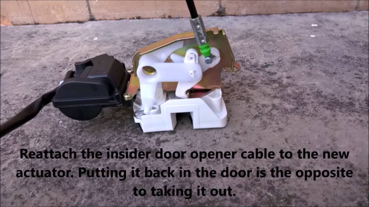 Replacing the door actuator or door locking mechanism on a