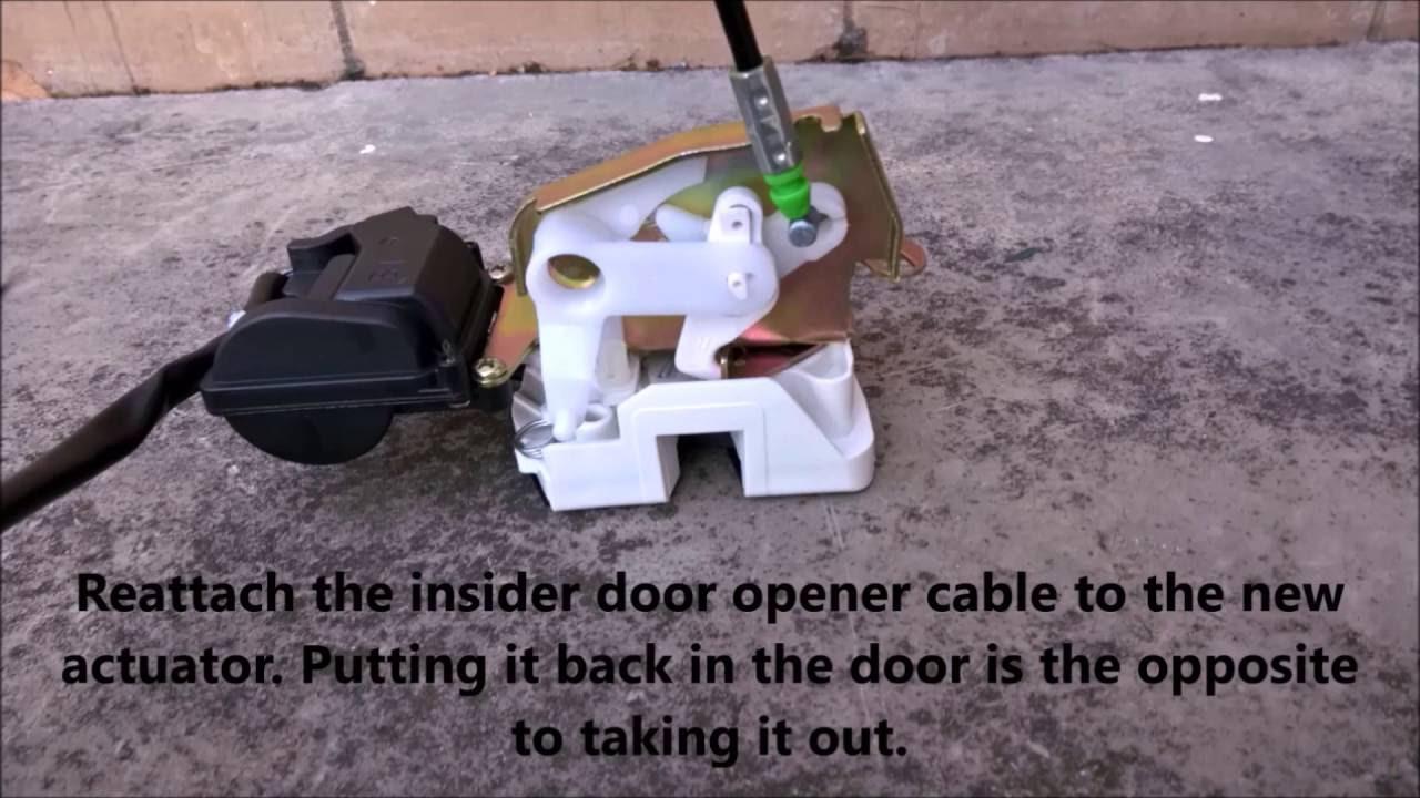 Replacing the door actuator or door locking mechanism on a