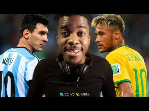 NEYMAR JR VS LIONEL MESSI - BRAZIL 🇧🇷 VS 🇦🇷 ARGENTINA   Reaction