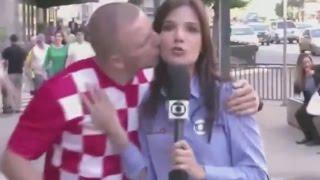 Situações engraçadas durante reportagens ao vivo. TENTE NÃO RIR !