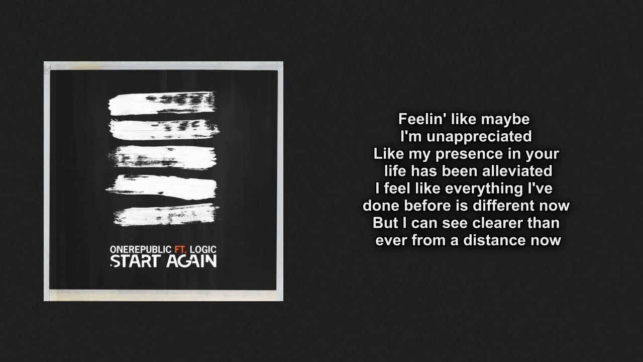 Start Again OneRepublic Lyric Video