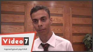 «عبد الرحمن» مسيرة نجاح.. معاق اختراع جهاز كمبيوتر يعمل بإشارات العين