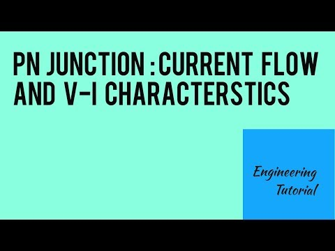 PN Junction : Current flow and Voltage-Current(V- I) characteristics