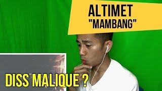 ALTIMET - MAMBANG || REACT TO MALAYSIAN MUSIC VIDEO || REACTION #94