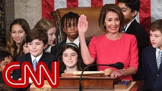 Nancy Pelosi takes House speaker oath with children at her side