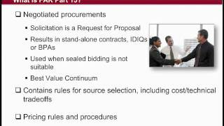 GSA Training: Federal Acquisition Regulation (FAR) Subpart 8.4 vs. Part 15 (1 of 4)