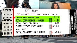 Are Ticketmaster fees Canada's Dumbest Charge? (CBC Marketplace)