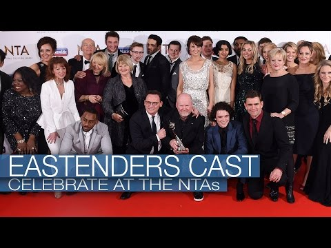 EastEnders cast celebrate at the NTAs