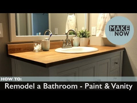 How To Remodel A Bathroom Paint Vanity YouTube Fascinating Bathroom Remodel Packages Painting