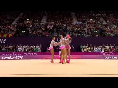 ОИ2012 Сборная команда России в групповых упражнениях(5 мячей)