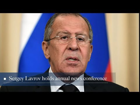 Live: Sergey Lavrov holds annual news conference