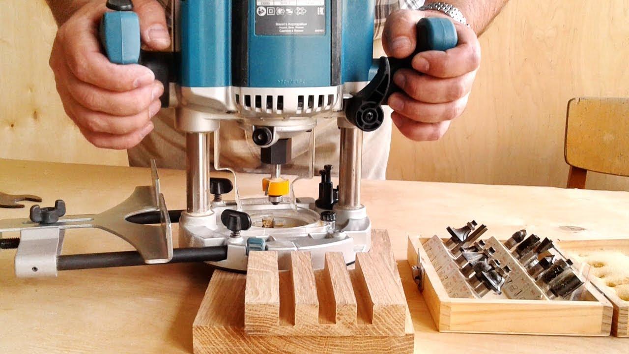 Фрезерование трех пазов в подставке для досок, milling groove