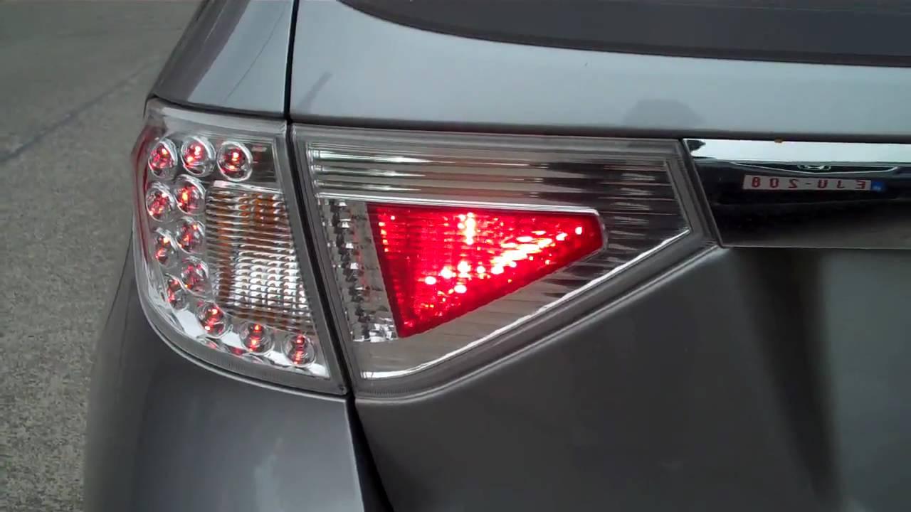 European Impreza Wrx 08 Rear Fog Light Youtube