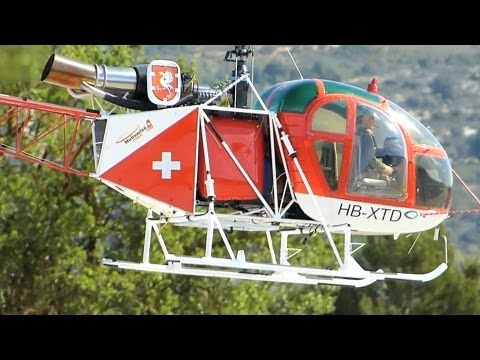 very very very Big Lama SA 315-B , RC Electro Helicopte ...