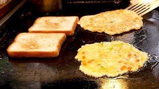 Traditional Market Toast - Korean Street Food