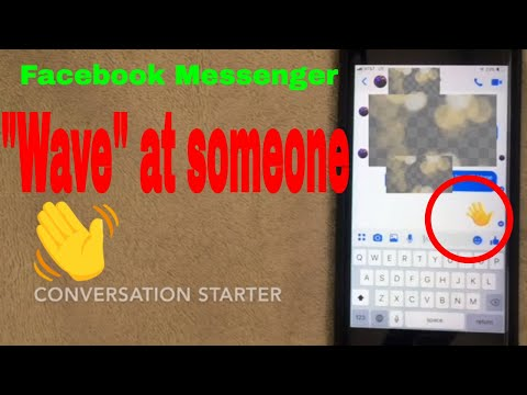 ✅  How To Wave To Someone In Facebook Messenger App 🔴