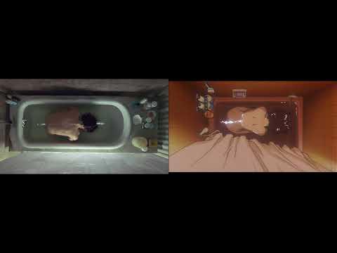 """Requiem for a Dream"" and ""Perfect Blue"" bathtub scene"