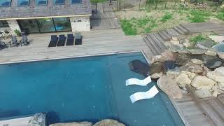 1x6 Ash Decking Patina Grey Pool Area Skyview
