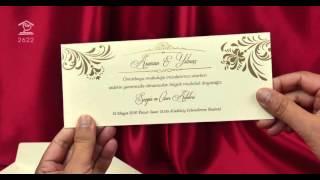Sedef Cards ©   2622   Свадебные пригласительные цвета айвори Черкассы