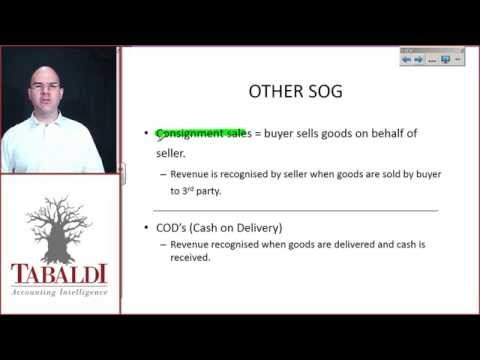 IAS18- Illustrative examples accompanying IAS 18 Sale of goods