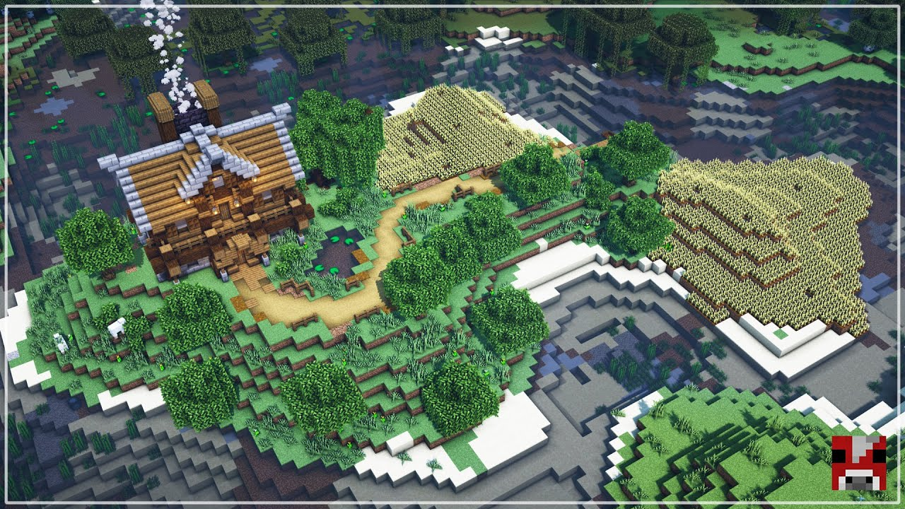 Let's Build a FARM ESTATE on an ISLAND!! | Minecraft Timelapse