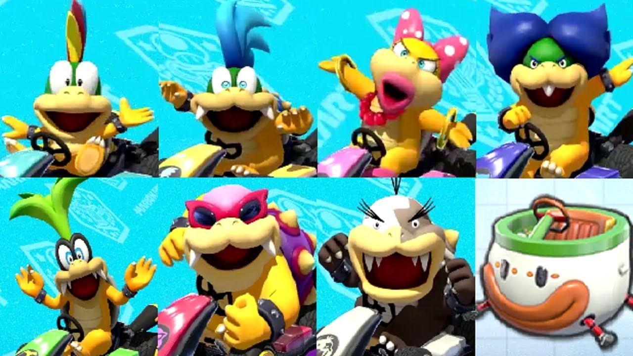 Mario Kart 8 Deluxe All Koopalings Onlines Races YouTube