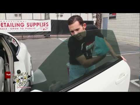 How To Clean Tinted Windows - Glassworkz Chemical Guys Car Care