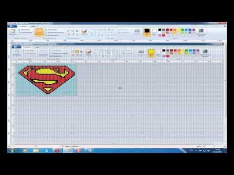 Видео урок №1 Как создать схему прямого плетения из картинки?