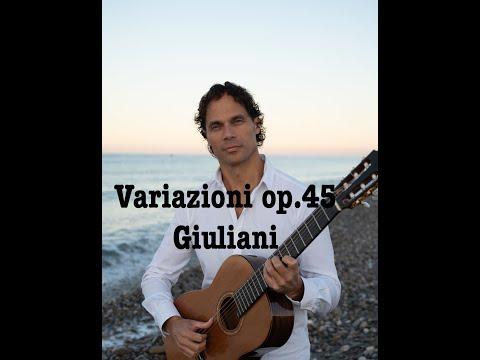 Mauro Giuliani, Variazioni les folies d'espagne op.45 eseguite da Fabio Federico