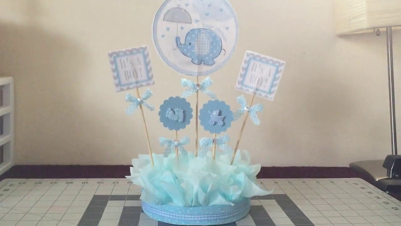 It S A Boy Table Centerpiece Youtube