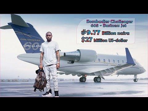 DAVIDO 's #9.77 New Billion Private Jet in 2018 (Full interior & Exterior Video)