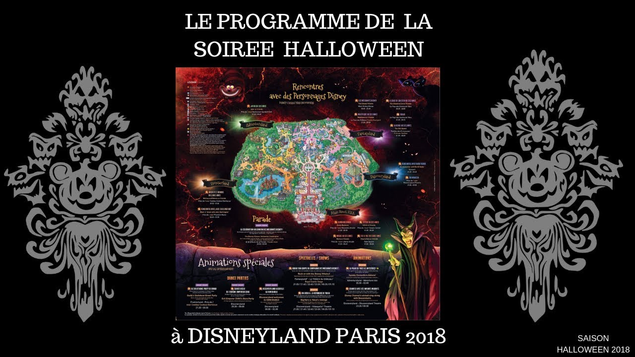 Disneyland Paris Halloween Party 2018.Programme Soiree Halloween 2018 Disneyland Paris