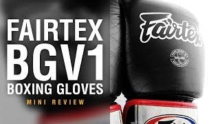 Fairtex BGV1 Boxing Gloves - Fight Gear Focus Mini Review