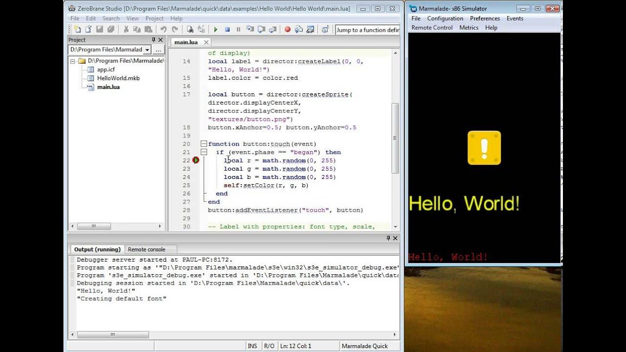 Tutorials - ZeroBrane Studio - Lua IDE/editor/debugger for Windows