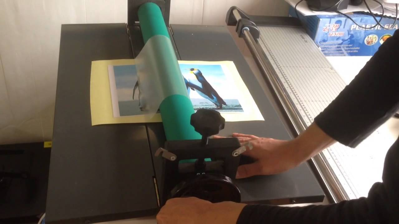 How To Use Cold Laminator Youtube