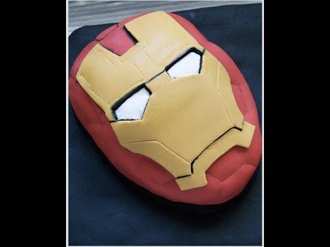 Iron Man Mask Cake Tutorial