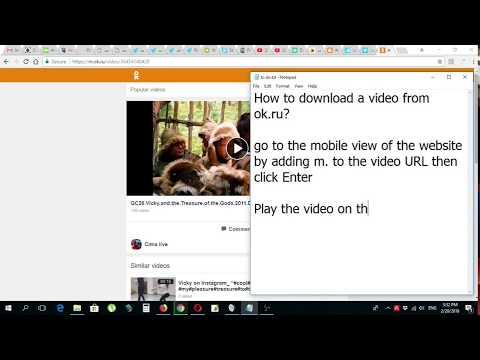 How to download a video from ok ru Odnoklassniki